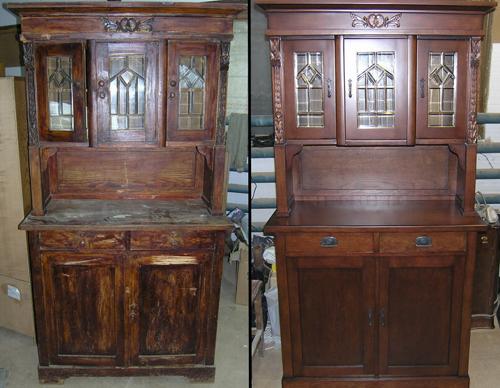 Реставрация деревянного шкафа